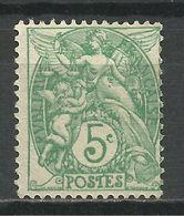 FRANCE , FRENCH , 5 Cts , Type Blanc , Type I A ,  Vert-jaune , 1925 , N° YT  111 B - 1900-29 Blanc
