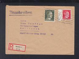 Dt. Reich Polen Poland Maschinenstempel Breslau 1943 - Duitsland