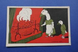 CHROMO  Vers 1900. Imp. Edit. Sirven.Anthropomorphisme. Monde Inversé. Oie Cuisinière Homme Rôti. Cheminée. Tournebroche - Non Classificati