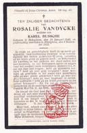 DP Rosalie Van Dycke ° Bekegem Ichtegem 1840 † Ettelgem Oudenburg 1922 X Karel Bussche - Devotion Images