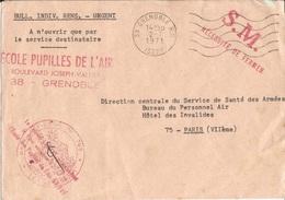 Env.   Base Aérienne N° 749  Ecole  Pupilles  De  L ' Air  GRENOBLE  1971 - Marcophilie (Lettres)