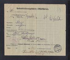 Dt. Reich Rückschein Eisfelden 1906 - Briefe U. Dokumente