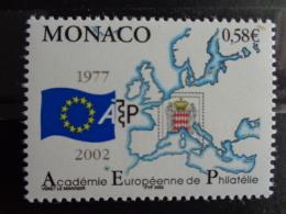 MONACO 2002 Y&T  N° 2346 ** - 25e ANNIV. DE L'ACADEMIE EUROPEENNE DE PHILATELIE - Monaco
