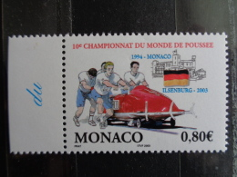 MONACO 2003 Y&T  N° 2385 ** - 10e CHAMPIONNAT DU MONDE DE POUSSEE 2003 A HSENBURG - Monaco