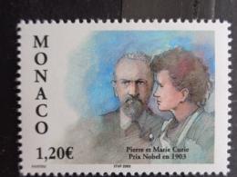 MONACO 2003 Y&T  N° 2408 ** - CENTEN. DE L'ATTRIBUTION DU PRIX NOBEL DE PHYSIQUE A PIERRE & MARIE CURIE - Monaco