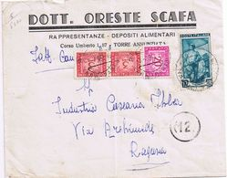 Busta Intestata Torre Annunziata -> Ragusa Viaggiata 1953 - Tassata Per Insufficente Affrancatura - 6. 1946-.. Repubblica