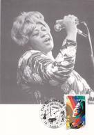 Carte-Maximum FRANCE N° Yvert 3503 (Ella FITZGERALD) Obl Sp Ill 1er Jour - 2000-09
