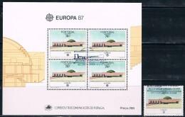 Portugal, Açores, 1987, # 1801, Bl. 89, Carimbo De 1º Dia, Used - 1910-... République