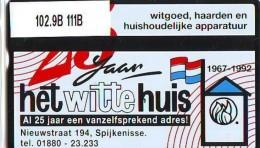 Telefoonkaart  LANDIS&GYR  NEDERLAND * RCZ.102.09B  111B * Witte Huis Spijkenisse * TK * ONGEBRUIKT * MINT - Nederland