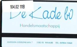Telefoonkaart  LANDIS&GYR  NEDERLAND * RCZ.104.02  111B * De Kade Bv * TK * ONGEBRUIKT * MINT - Nederland