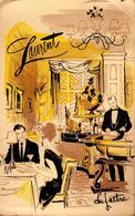 Grande CPSM Adressée à Käthe Musil Du Laurent Restaurant New York NY  111 East 56th St., N.Y.C.Plaza 3-2729 En 1981 - Cafés, Hôtels & Restaurants