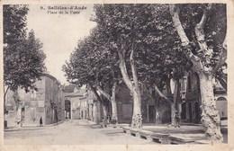 Salleles D Aude Place De La Poste Animée Pub Chocolat Meunier Ed Paleau 1915 - France