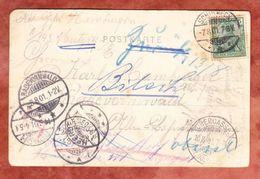 AK Grenze Geradmer Nach Muenster, EF Germania, Ab Schirmeck, Weiter- Und Zurueck, Stempelballett, 1901 (49199) - Germany