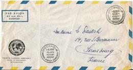 "Env.  PAR AVION  Cachet  "" STOCKHOLM  WORLD  JEWISH  CONGRESS  4.8.1959 FOURTH PLENARY ASSEMBLY "" - Air Post"