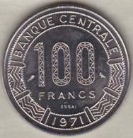 GABON 100 FRANCS ESSAI 1971 KM# E3 - Gabon