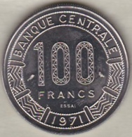 GABON 100 FRANCS ESSAI 1971 KM# E3 - Gabón
