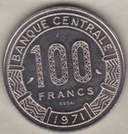 TCHAD 100 FRANCS ESSAI 1971 KM# E 3 - Chad