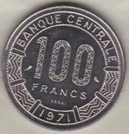 REPUBLIQUE CENTRAFRICAINE 100 FRANCS ESSAI 1971 KM# E 2 - Central African Republic