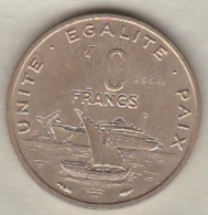 DJIBOUTI 10 FRANCS ESSAI 1977 KM# E 4 - Dschibuti