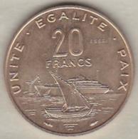 DJIBOUTI 20 FRANCS ESSAI 1977 KM# E 4 - Djibouti