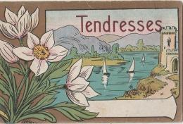 FANTAISIE - Tendresses - Fort - Château - Lac - Voiliers - Anémones - Dessin Style Art Nouveau - Fantasia