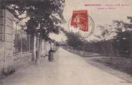 Marcorignan Chateau De Mr Raynaud Avenue De Nevian Animée 1913 - Sonstige Gemeinden
