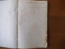 """MAREUIL SUR AY MARNE SOCIETE """"LA TIRELIRE"""" PROCES VERBAUX DE LA SOCIETE DU 5 MARS 1884 AU 4 AVVRIL 1907  110 PAGES - Documentos Históricos"""