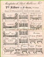 """SAINT-DIZIER (1899) : """" MANUFACTURE DE LITS EN FER """"  (Haute-Marne) - France"""