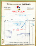 """TROYES (10) : """" PETIT POULBOT - Etablissements SIMON - CHAUSSETTES """"  1937 - France"""
