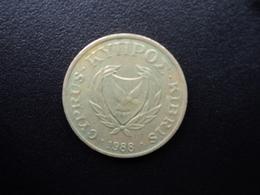CHYPRE : 5 CENTS  1988   KM 55.2    TTB - Cyprus