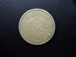 CHYPRE : 5 CENTS  1990   KM 55.2    TTB - Cyprus