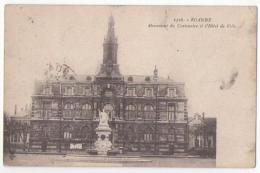 (42) 018, Roanne, 1526, Monument Du Centenaire Et L'Hotel De Ville, Voyagée En 1918 (FM), Bon état, Pliure Angle In F Dr - Roanne