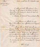 VP11.938 - MILITARIA - Guerre 14 - 18 - Lettre Du Soldat RANGHERARD Du 12ème Escadron Du Train Motocycliste - Documents