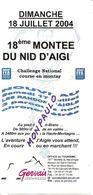Sports. Athlétisme. Course En Montagne. Fiche D'inscription 18è Montée Du Nid D'Aigle  (2004) (St. Gervais-Mt-Blanc) - Athlétisme