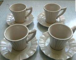 """4 Tasses à Café Table Passion """"Cameba"""". Neufs - Cups"""
