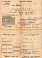 VP11.941 - MILITARIA - Guerre 14 - 18 - Permission Pour Le Soldat De 2 ème CL RANGHEARD - ARLANC X SAINT ALYRE - Documents