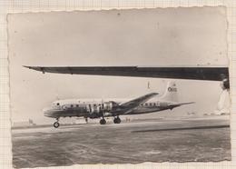 8AK436 AVION UN DES D C 6 B DE LA T A I  AGENCE DE VOYAGE ST BRIEUC 12.5 X9 CM 2 SCANS - 1946-....: Era Moderna