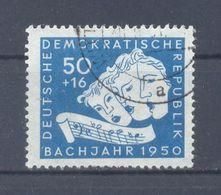 1950 DDR  Mi-259  14 Juni  200 Todestag Des Komponisten Johann Sebastian Bach Singende Masken  Gestempelt - [6] Democratic Republic