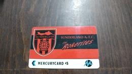 Mercury-(pyfo60)-sunderland-(5£)-(5pflh000851)-used Card+1card Prepiad Free - [ 4] Mercury Communications & Paytelco