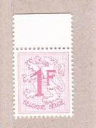 1957 Nr 1027BP3** Postfris Zonder  Scharnier.Cijfer Op Heraldieke Leeuw.Fosfor. - 1951-1975 Lion Héraldique