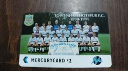 Mercury-(pyfo61)-tottenham Hotspur-(2£)-(2pflt004559)-used Card+1card Prepiad Free - [ 4] Mercury Communications & Paytelco