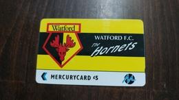 Mercury-(pyfo64)-wotford-(5£)-(4pflb001638)-used Card+1card Prepiad Free - [ 4] Mercury Communications & Paytelco
