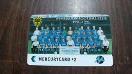Mercury-(pyfo69)-wimbledon-(2£)-(2pflg007529)-used Card+1card Prepiad Free - [ 4] Mercury Communications & Paytelco