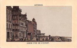 Chromo - Halles De Versailles - Boucherie De L'Avenir - OSTENDE - Digue Vue De L'Ouest - BELGIQUE - Kaufmanns- Und Zigarettenbilder
