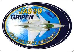 Sticker JAS39 SAAB GRIPEN Military Aircraft JET  I 3245 - Luchtvaart