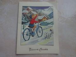 Carte Double Jeanne LAGARDE - Bonne Année - Autres Illustrateurs