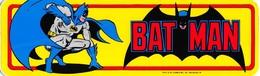 Sticker Batman  Bat Man DC Comics Mr Badge     ( 23 X 7 Cm )      I 3250 - Autocollants