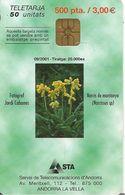 CARTE-PUCE-ANDORRE-50U-AND124-G D-09/2001-NARCISSE De MUNTANYA-UTILISE-TBE - Andorre