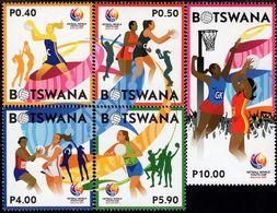 Botswana - 2017 - Netball World Youth Cup - Mint Stamp Set With Embossing - Botswana (1966-...)
