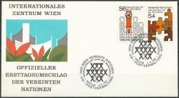UNO WIEN 1981 Mi-Nr. 17/18 FDC - FDC